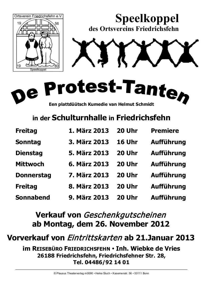 De Protest-Tanten (Spielzeit 2013)