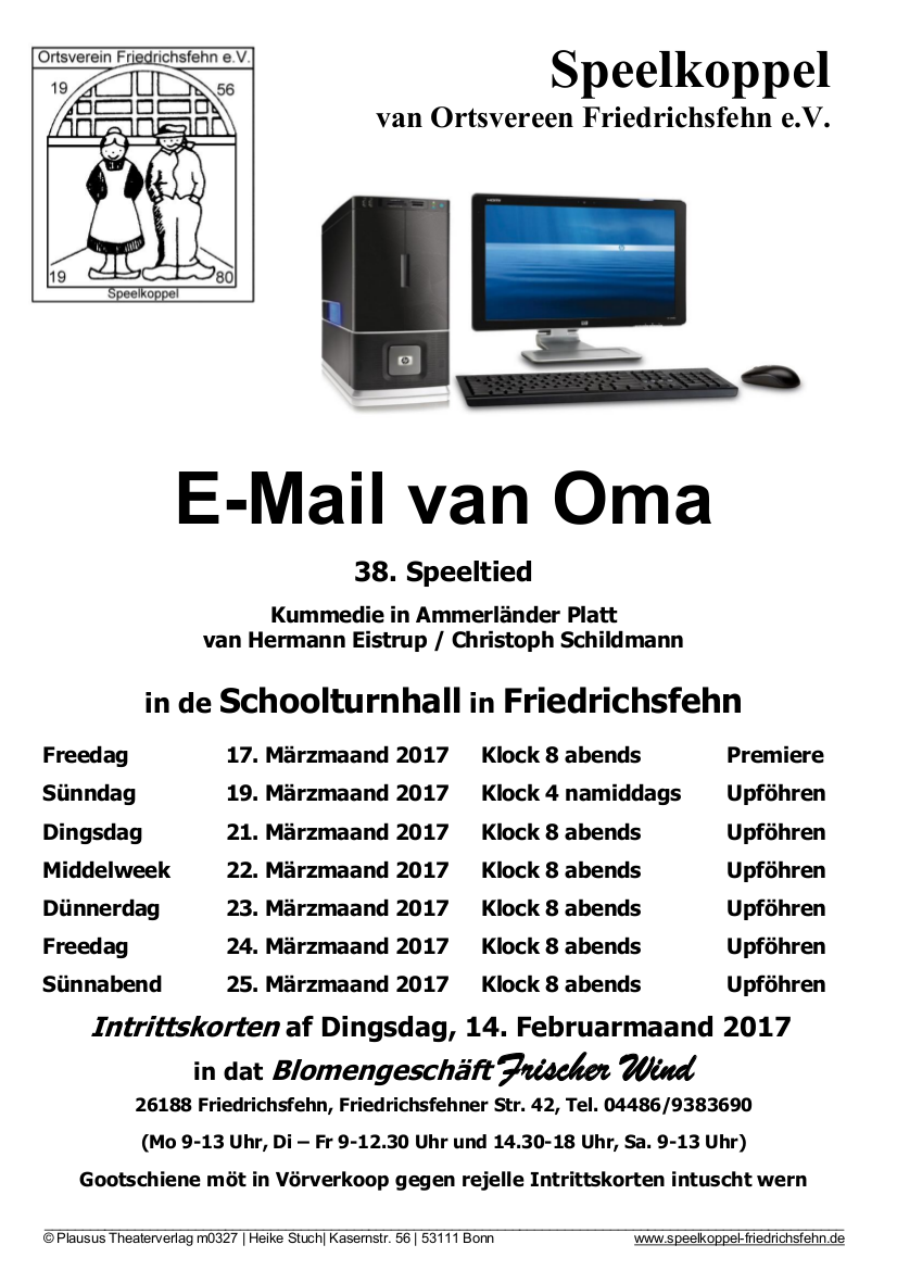 Email van Oma (Spielzeit 2017)